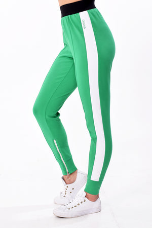 Okayla High Waist Green Track Bottom