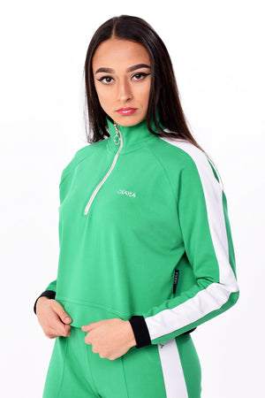 Okayla Half Zip Green Track Top