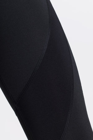 High Waist Black and Grey Panelled Legging by Okayla
