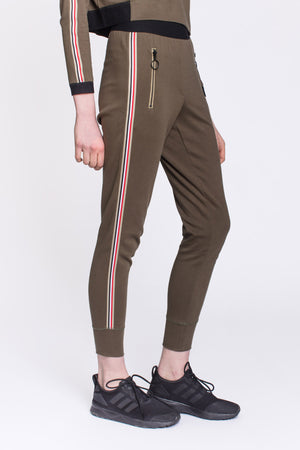 High Waist Olive Jogger by Okayla