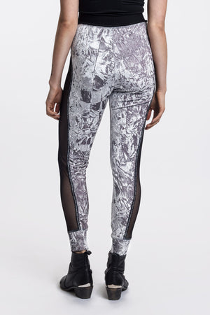 Okayla Silver-Grey Crushed Velour Jogger