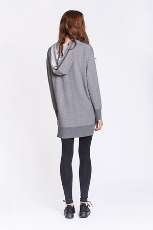 Sequin Pocket Grey Hoodie by Okayla