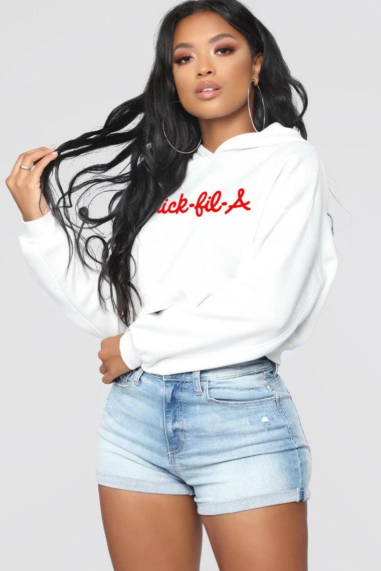 Thickfila cropped unisex Hoodie