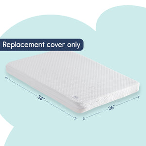 "[Replacement Cover ONLY] for The hiccapop Pack and Play Mattress (38"" x 26"" x3.25"") - Ultra-Soft Jacquard Fabric"