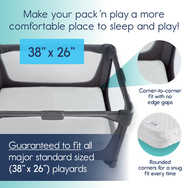 Pack N Play Mattress Pad Dual Sided For Babies And