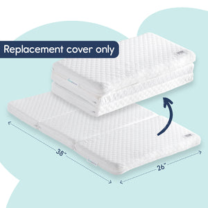 "[Replacement Cover ONLY] for The hiccapop Tri-fold Pack and Play Mattress (38"" x 26"" x2.25"") - Ultra-Soft Jacquard Fabric"