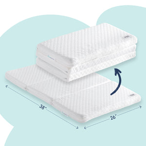 Tri-fold Pack n Play Mattress for Travel | Folds for easy travel