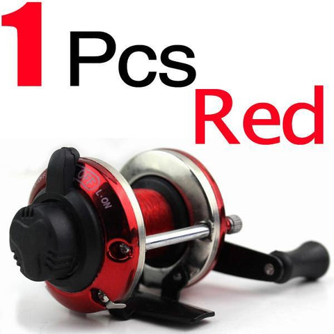Fishing World Store Red Mini Ice Fishing Reel Bait Casting Coil Roller