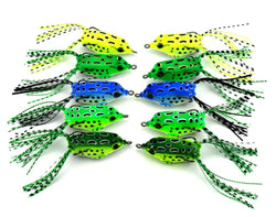 FishingWorld Store Artificial Bait 10Pcs/lot Frog lures Soft Plastic Fishing Bait With Hook Top Water Artificial Fish