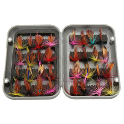 FishingWorld Store Artificial Bait 32pcs/sets Fly Fishing Lure Set Artificial Insect Bait Trout Fly Fishing Hooks