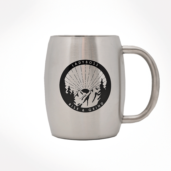 Rise & Grind Double Barrel Mug