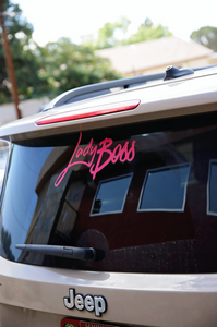 Micro Clean Cut LadyBoss Decal