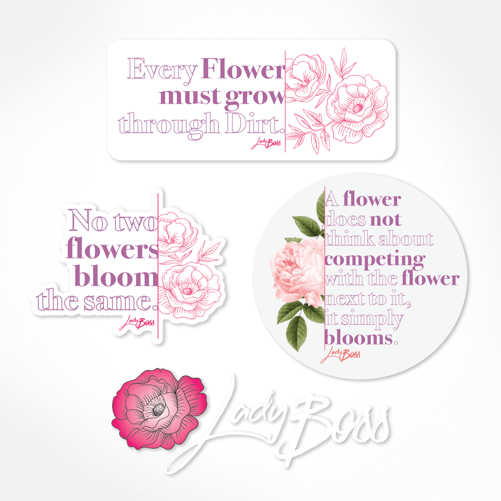 Spring Bloom Decal Set (4pc)