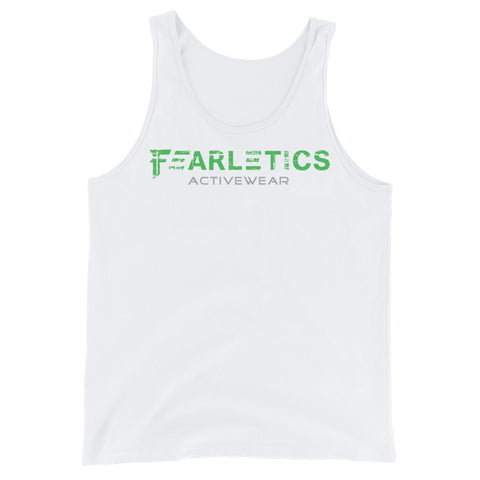 FEARLETICS TANK TOP WHITE AND GREEN