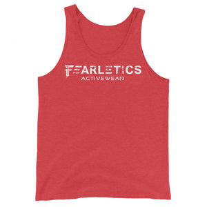 FEARLETICS TANK TOP RED AND WHITE
