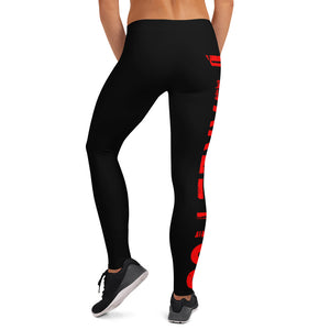 FEARLETICS LEGGINGS RED LOGO