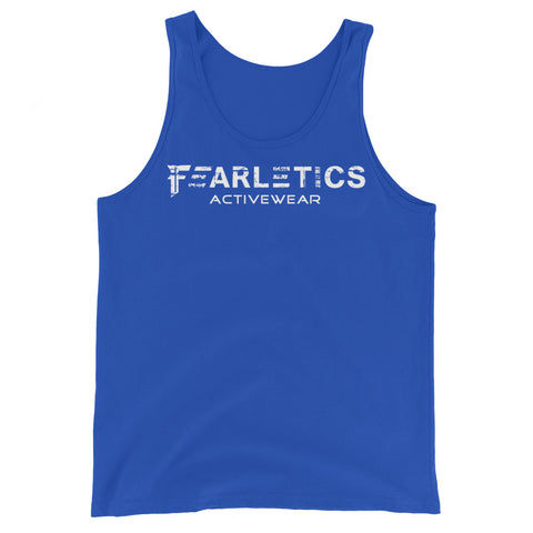 FEARLETICS TANK TOP BLUE AND WHITE