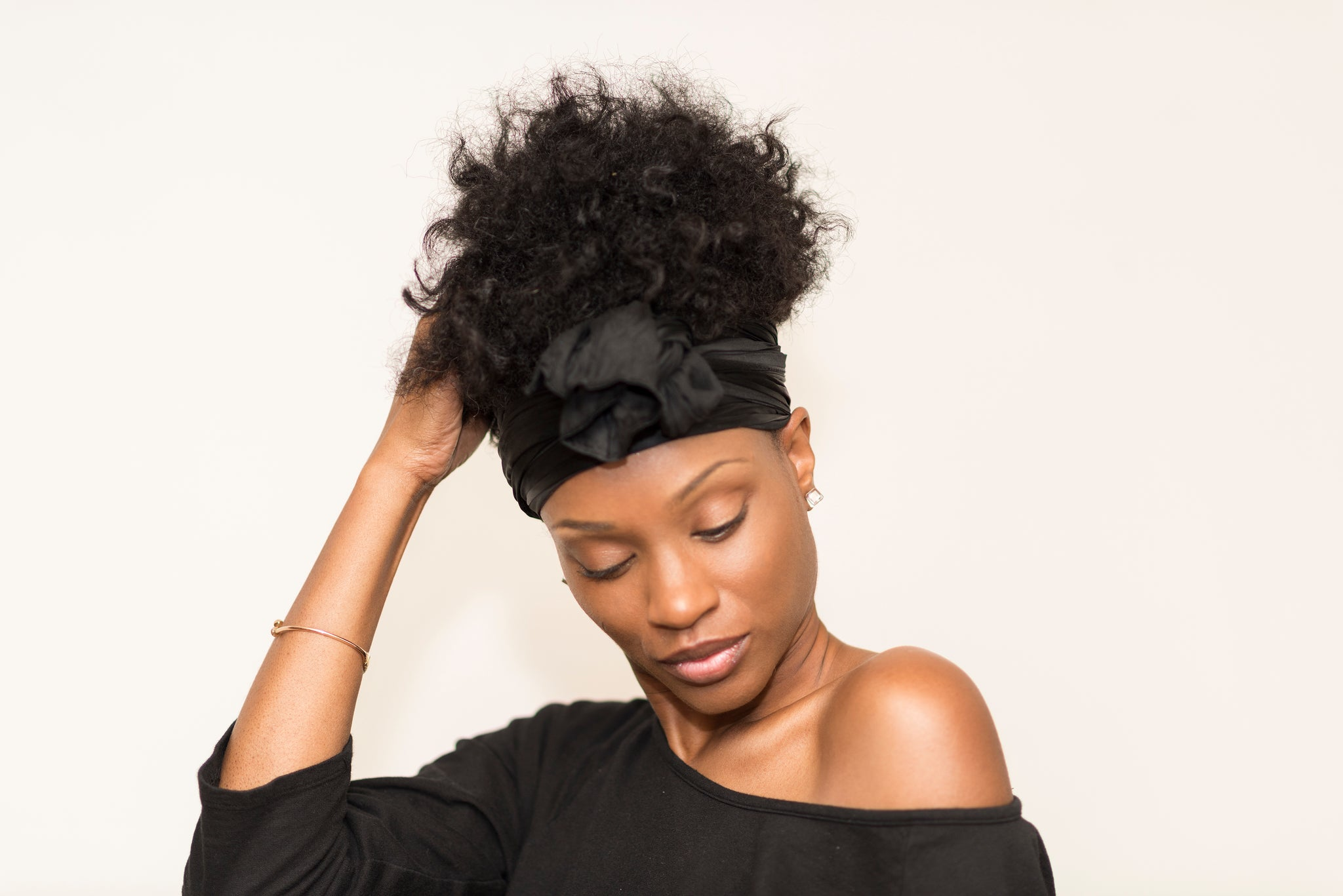 Perfect Head Tie (Black) – Hair Therapy by Candalada a4aac5813d1