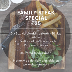 Family Steak Special + Sauces