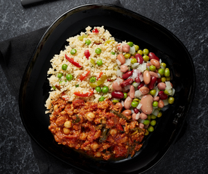 Turkey & Spinach Chilli with Tex Mex Style Couscous and Five Bean