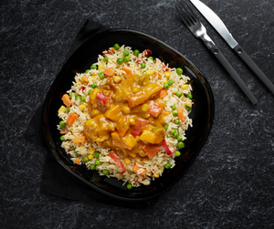 Vegetable Mango Massala and Pilaf Rice