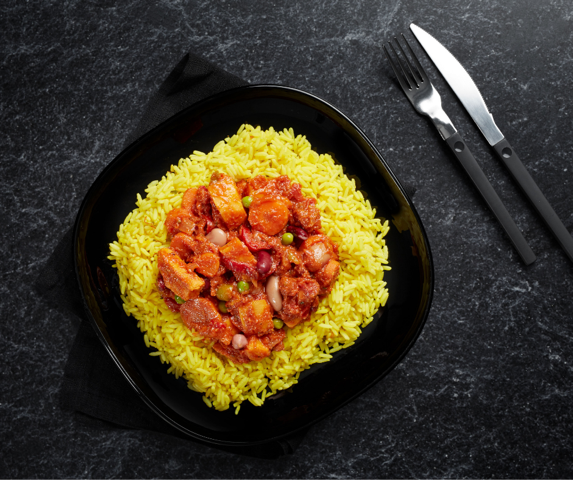 Tex Mex Bean Chilli and Saffron Rice