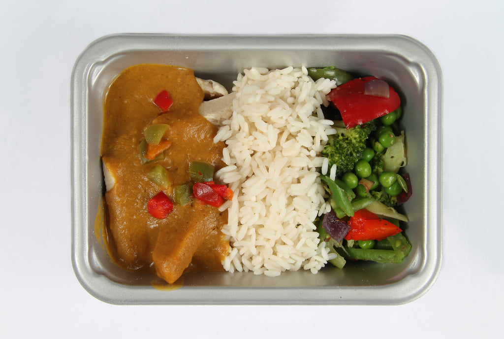 Balanced 2 Go Chicken curry, rice ,veg