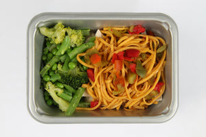 Balanced 2 Go Chicken, Spicy noodles , Veg