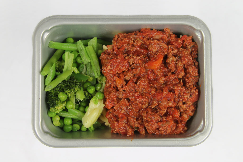 Balanced 2 Go Pasta Bolognaise and veg