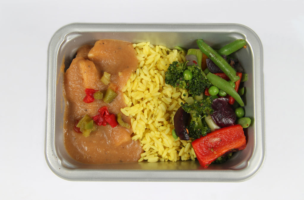 Balanced 2 Go Peppered chicken , Rice and Veg