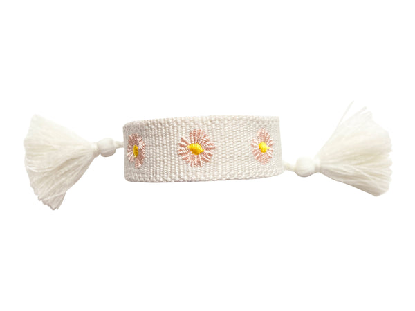 Friendship Bracelet- Flower Power- White