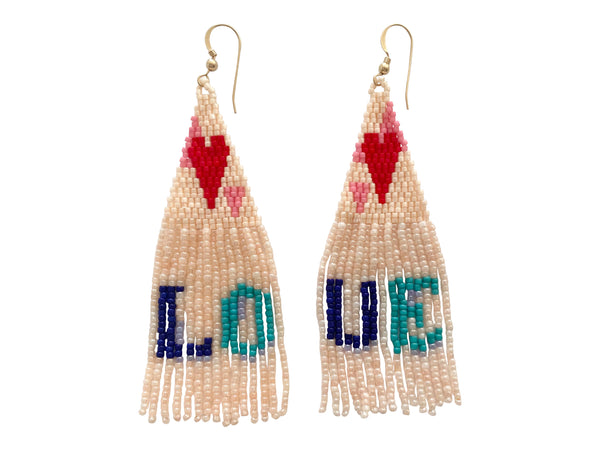 Love Tassel Earring