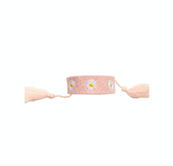 Friendship Bracelet- Flower Power- Pink