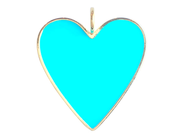 Charm Attachment- Turquoise Heart Charm