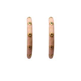Enamel Hoops- Blush
