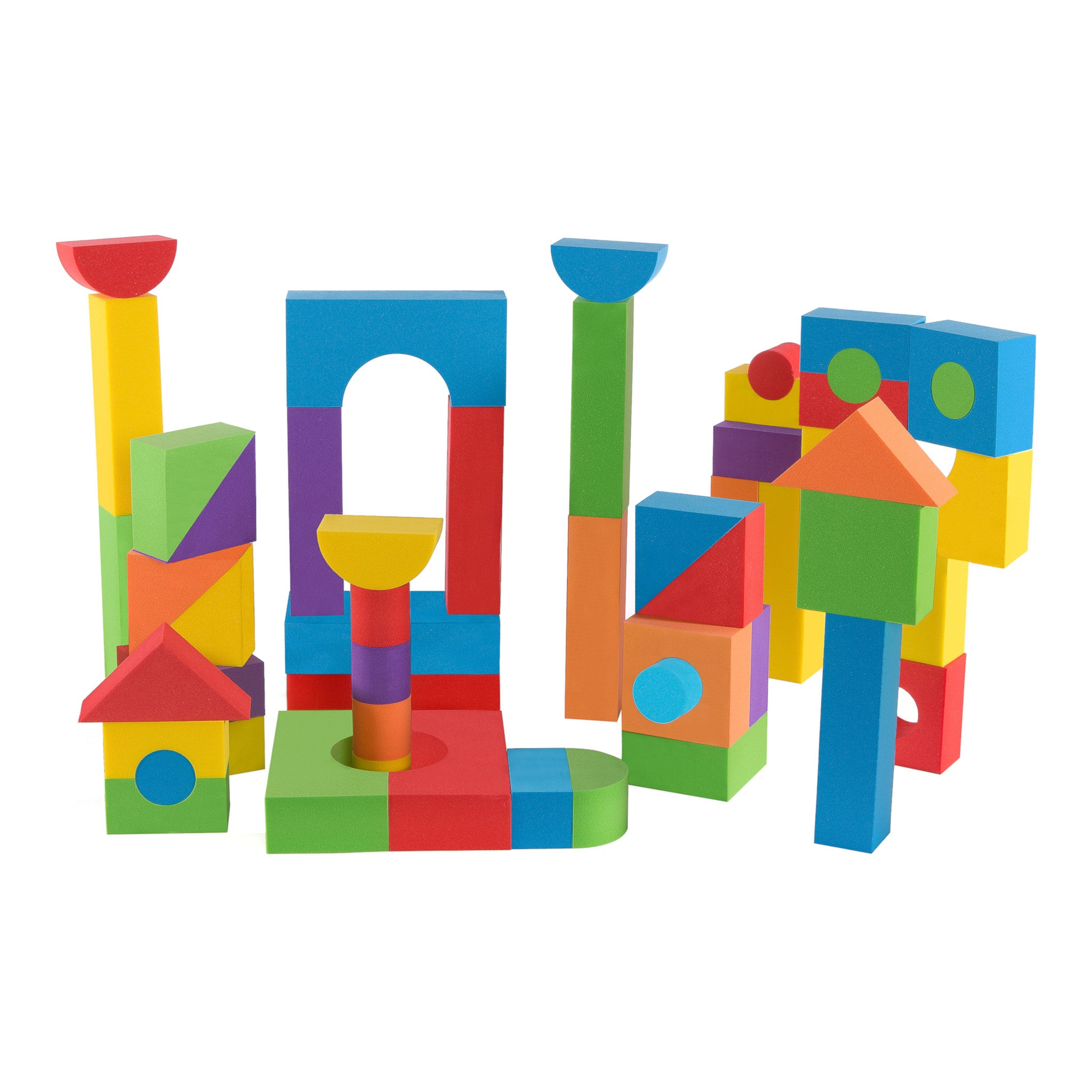 Foam Building Blocks Set for Kids - 68 Pieces