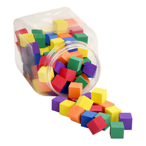 Foam Counting Color Cubes for Kids - 120 Pieces