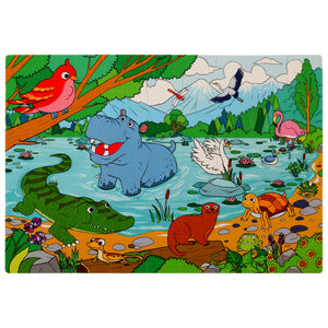 Peaceful Lake Foam Floor Puzzle - 54 Pieces