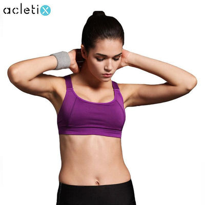 New Women Sports Bra For Running - Padded WireFree Seamless Shakeproof Push Up - Dealeaz