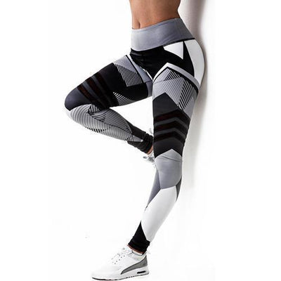 3D square Prints Fitness Leggings