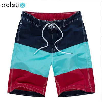Triple Color Band Surf Swim Shorts - Dealeaz