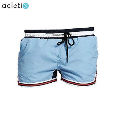 2 Color Patchwork Swimwear Men Short - Dealeaz