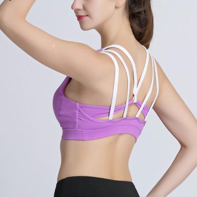 Double Layer Strappy Back Yoga Bra