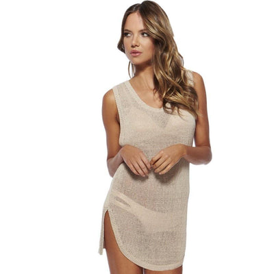 Swimsuit Cover Up Mesh Dress - FitShopPro