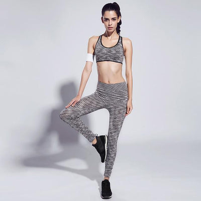 Women Slim Ultra-Soft Feel Fitness Outfit - Casual Sports Bra + Quick-Dry legging - Dealeaz