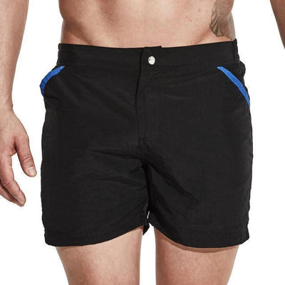 Zipper Closure Quick Dry Swimming Shorts - Dealeaz