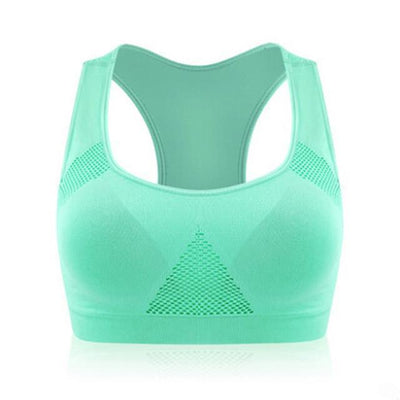 Absorb Sweat Seamless Padded Sports Bra - Dealeaz