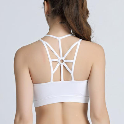 Strappy Back Yoga Bra - Dealeaz