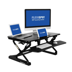 "FlexiSpot Standing Desk - 35"" Classic Series  Stand Up Desk Riser with Quick Release Keyboard Tray"