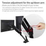"Loctek Monitor Mount Desk top Vesa LCD Arm Swivel Heavy duty for most of 10''-27"" Curved Panel LED-Lit Computer Screen (Dual Arm D5DH )"